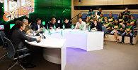 Пресс-конференция финалистов, членов жюри и организаторов международного детского вокального конкурса Ты супер!