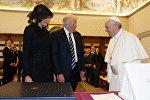 Birləşmiş Ştatların prezidenti Donald Tramp Vatikana səfəri çərçivəsində Roma Papası Fransisk ilə