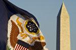 Флаг с изображением Большой печати США, фото из архива
