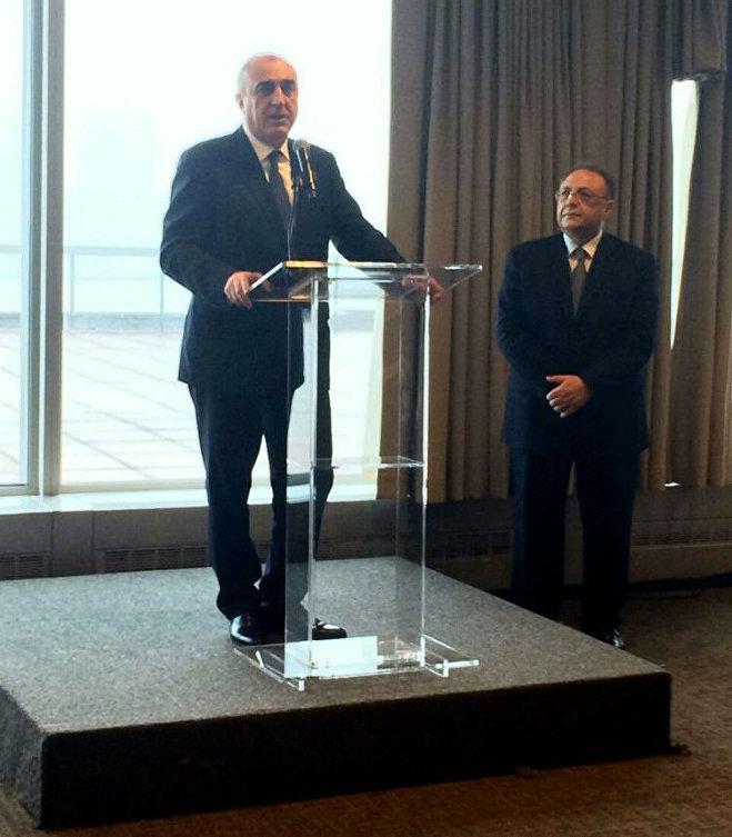 Выступление министра иностранных дел Эльмара Мамедъярова на приеме в честь 25-летия установления отношений между Азербайджаном и ООН, Нью-Йорк, 25 мая 2017 года