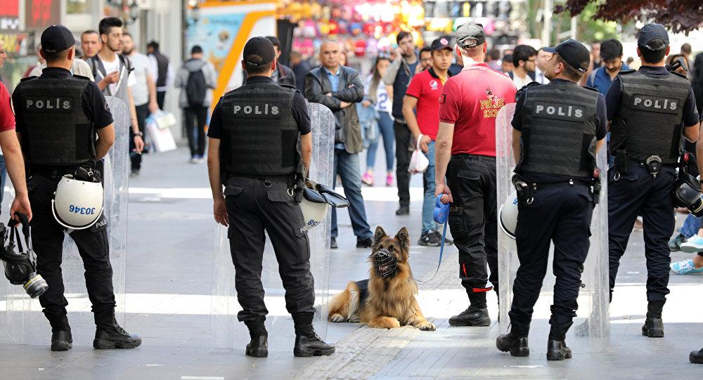 Полицейские в Анкаре, 24 мая 2017 года