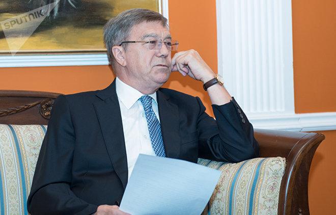 Посол Российской Федерации в Азербайджане Владимир Дорохин во время интервью информационному агентству Sputnik Азербайджан
