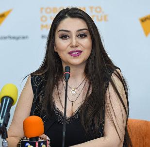 Певица Damla в Международном мультимедийном пресс-центре Sputnik Азербайджан /