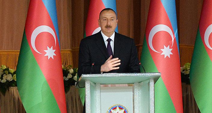 Azərbaycan prezidenti İlham Əliyev Respublika Günü münasibətilə keçirilən rəsmi qəbulda