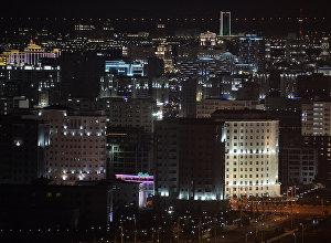 Ночной Ашхабад