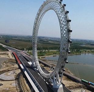 В Китае открылось новое гигантское колесо обозрения