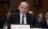 Министр внутренней безопасности США Джон Келли, фото из архива
