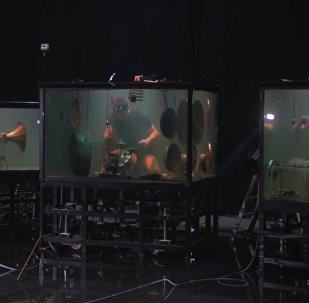 Датские музыканты сыграли под водой