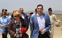Посол Турции в Азербайджане Эркан Озорал на острове Бёюк-Зиря