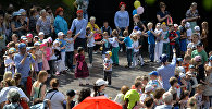 Дети на детском празднике в Международный день защиты детей