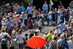 Дети на празднике в Международный день защиты детей