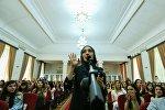 Протесты студентов Азербайджанского университета языков
