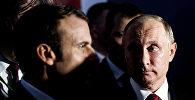 Встреча президентов Франции и России Эммануэля Макрона и Владимира Путина, Версаль, 29 мая 2017 года