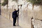 Президент США Дональд Трамп у Восточной стены в Иерусалиме, 22 мая 2017 года