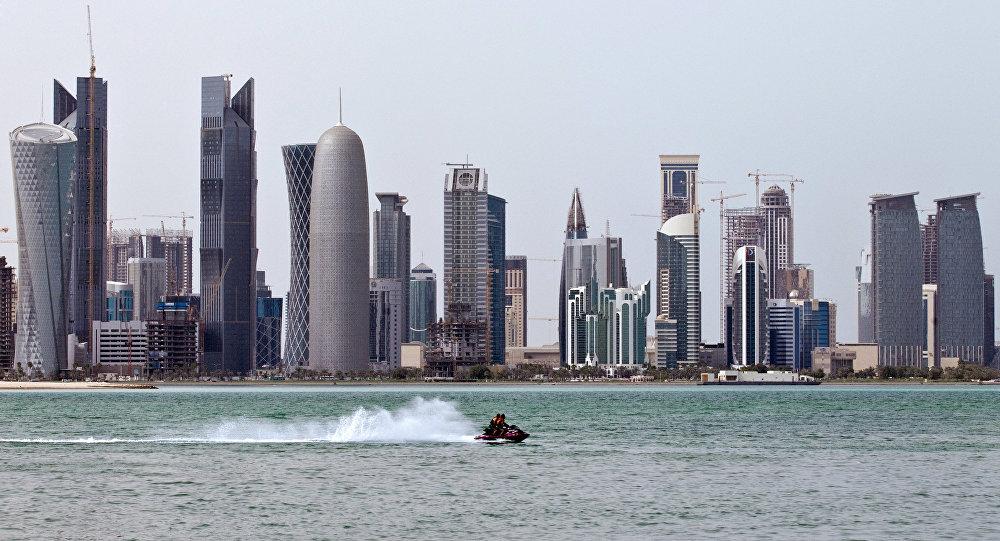 Вид на столицу Катара — город Доха
