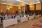 Azərbaycan-Gürcüstan-Türkiyə üçtərəfli əlaqələri ilə bağlı beynəlxalq konfransın iştirakçıları