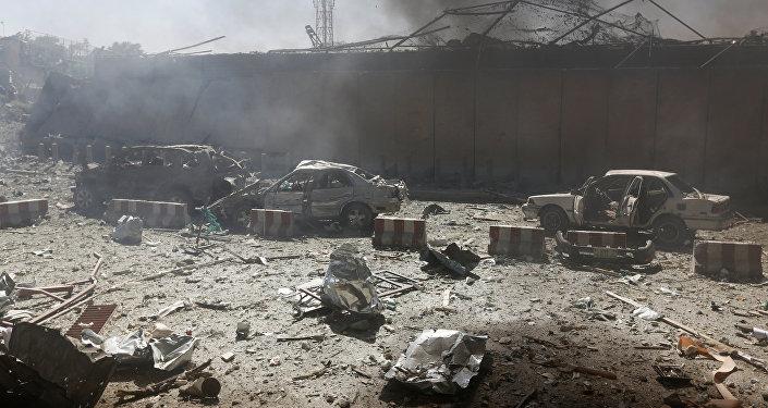 Последствия теракта, фото из архива