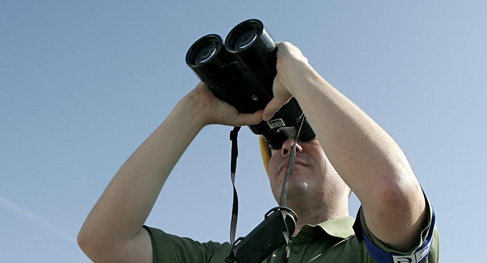 Наблюдатель ОБСЕ во время мониторинга, фото из архива