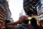 Мусульманка во время ифтара в Нью-Йорке, США, 1 июня 2017 года