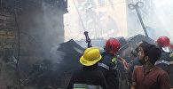 Пожар в общежитии для беженцев и вынужденных переселенцев в Ясамальском районе Баку