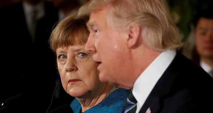 Канцлер Германии Ангела Меркель и президент США Дональд Трамп, Вашингтон, Белый дом, 17 марта 2017 года