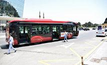 Автобус в Баку, фото из архива