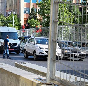 Защитный барьер Формулы-1 в Баку