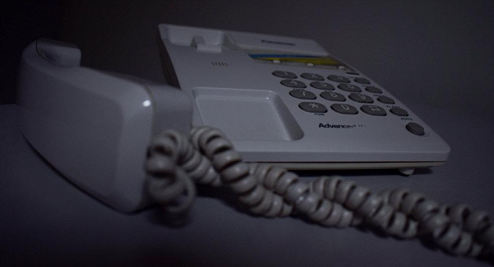 Стационарный телефон, фото из архива