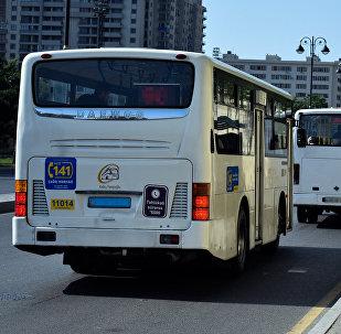 Старые автобусы в Баку, фото из архива