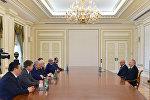 Ильхам Алиев принял находящихся с визитом в Баку руководителей таможенных служб государств-членов СНГ