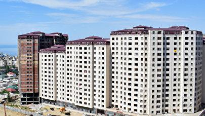 Строящийся жилой комплекс в Хатаинском районе Баку, фото из архива