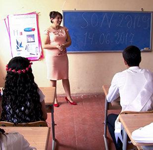 Əhmədağalı kənd orta məktəbində son zəng günü