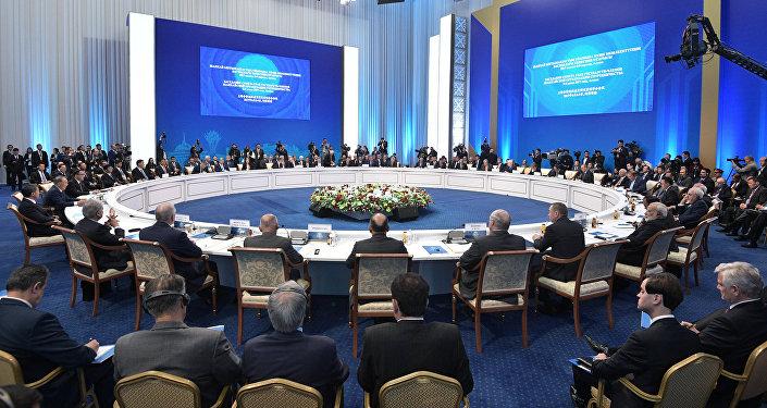 Заседание совета глав государств - членов ШОС в расширенном составе, Астана, 9 июня 2017 года