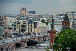 Вид на Константино-Еленинская башня и Москворецкая башня (справа налево) в Москве