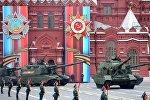 Самоходная артиллерийская установка (САУ) Мста-С на военном параде на Красной площади в Москве, фото из архива