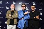 Сергей Кожевников, Григорий Лепс и Эмин на pre-party фестиваля Жара-2017