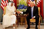 Qatar əmiri Şeyx Tamim bin Həməd Al Tani və ABŞ prezidenti Donald Trump