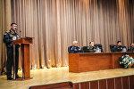 Министр обороны генерал-полковник Закир Гасанов на встрече с выпускниками Высшего военного училища имени Гейдара Алиева