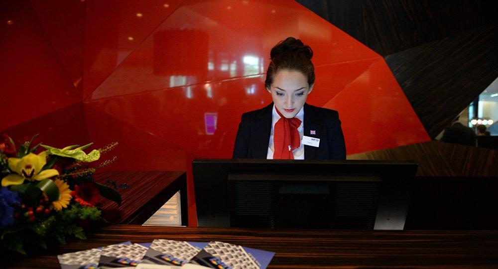 Сотрудница отеля, фото из архива