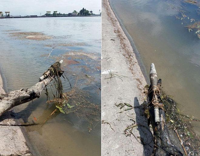 Снаряд противотанкового гранатомета РПГ-7, обнаруженный на берегу реки Араз