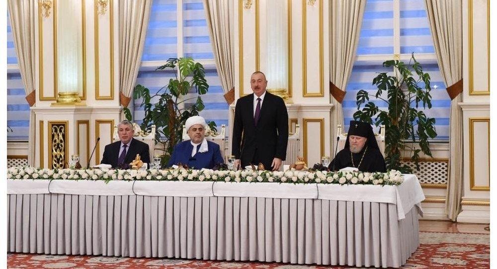 Президент Ильхам Алиев принял участие в ифтаре по случаю священного месяца Рамазан