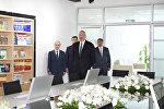 Президент Ильхам Алиев на открытии административного здания Наримановского районного суда города Баку