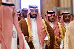 Məhəmməd bin Salman (soldan ikinci)