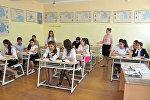 Учебный процесс в одной из средних школ Азербайджана, фото из архива