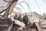 Президент Ильхам Алиев в Н-ской воинской части в Агдаме