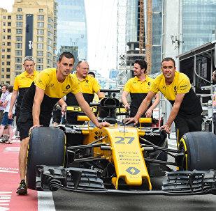 Подготовка к старту Гран-при Азербайджана Формулы-1