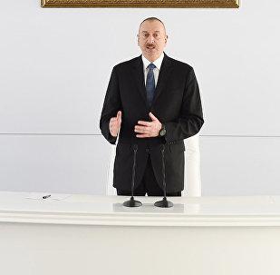 Выступление президента Ильхама Алиева