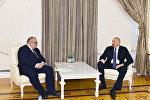 Встреча президента Ильхама Алиева с заместителем премьер-министра Грузии Александром Жежелавой