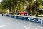 Книжная ярмарка в парке Гусейна Джавида в Баку, фото из архива