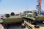 Партия российской военной техники, прибывшая в порт в Баку